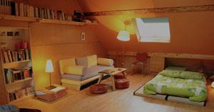 espace zen détente avec futon et tatami à la japonaise pour un espace modulable