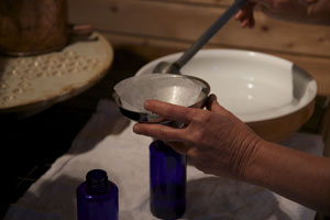 Filtrage de l'extrait de plante produite à la vapeur d'eau
