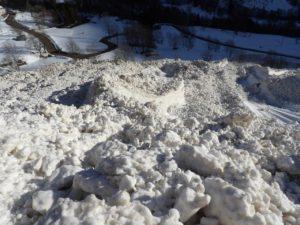 L'avalanche de la Colombière en janvier 2018